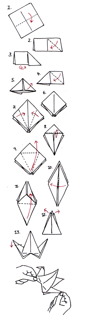 Fillable Online Origami Crane Instructions - Origami Fun Fax Email ... | 1106x314